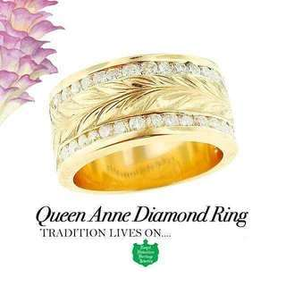 Queen Anne Diamond Ring  ロイヤル ハワイ...