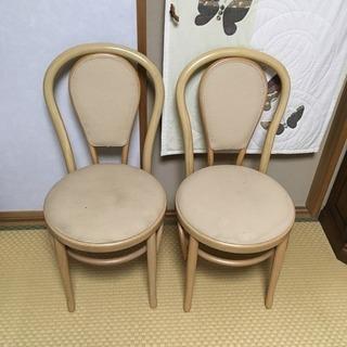 曲げ木 椅子2脚