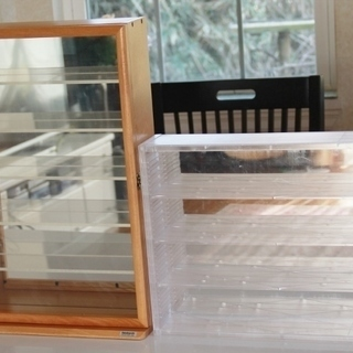 ナカバヤシ コレクションケースとアクリル製コレクションケースの2個