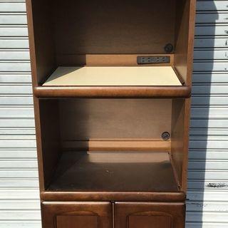 木製 食器棚 レンジ台 幅58cm×奥行47cm×高さ180cm