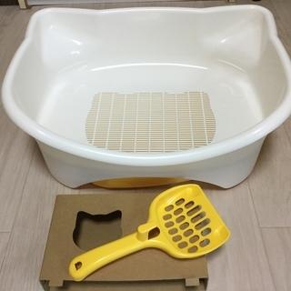 猫トイレ◆USED◆新品同様◆砂付き