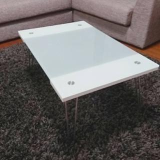 折り畳みガラステーブル
