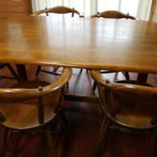 【 早い者勝ち!】ダイニングテーブル・椅子6 脚セット