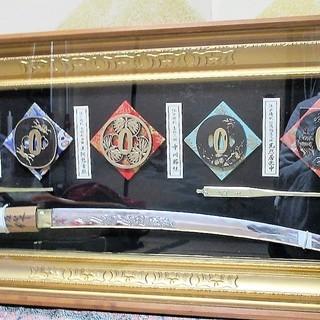模造品 鍔、刀剣、飾り額 表面ガラス 工芸品 伝統工芸品 美術工芸...