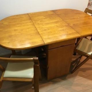 【あげます】ダイニングテーブル 椅子4脚セット