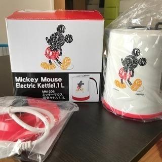 ミッキーマウス電気ケトルオマケ付き