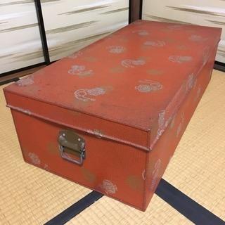 【美品】40年前の衣装缶(収納ケース)