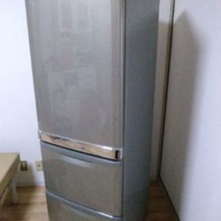 【配達設置無料】💞三菱💞370L冷蔵庫✨☀✨製氷機使用可❗!