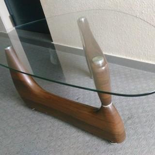 お洒落な ガラステ―ブル 1200x680 センターテーブル