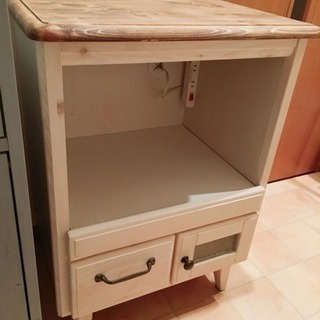 カントリー調 レンジ台 炊飯器台