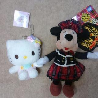 新品キティとミニーキーホルダー