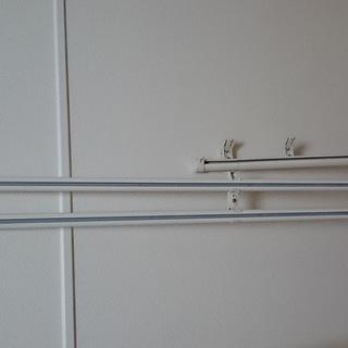 【中古】カーテンレール ・木製とステンレス製