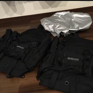 GIANT フレームバッグ2個セット 雨避け1枚付き