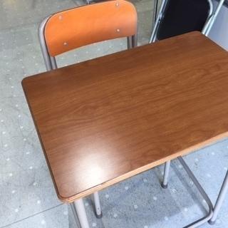 レトロ 学習机  学校の机 椅子とセットです 1セット価格