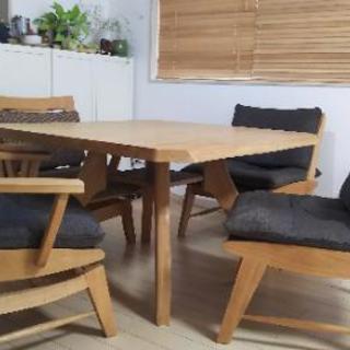 *ミキモク*中古ダイニングテーブルと椅子のセット