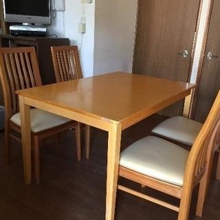 木製ダイニングテーブルセット-値下げ