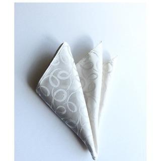 新品未使用スカーフポケットチーフ絹100%サイズ約(23.1 × ...