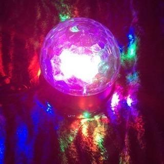 新品未使用!!! カラフル水晶魔球LED ステージライト ミラーボール