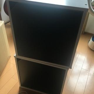 黒白の収納ボックス2個セット