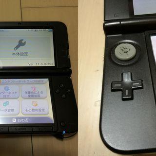 中古 3DS LL 64GB(マイクロSDカード付)難あり 詳細を...