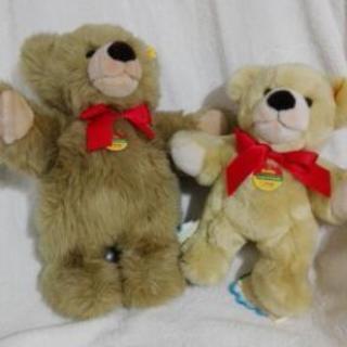 ドイツ製の熊ぬいぐるみです。