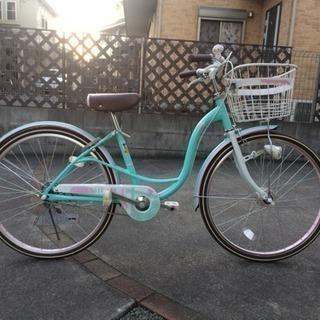 24インチ 女の子 自転車 オートライト