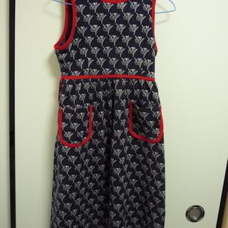 子ども服 ジャンパースカート 紺色 140サイズ