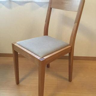 無印良品 MUJI オーク材 ダイニングチェア 椅子 イス 無垢材の画像