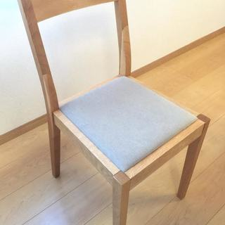 無印良品 MUJI オーク材 ダイニングチェア 椅子 イス 無垢材 - 堺市