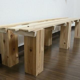 ハンドメイド木製物置き2セット インテリア