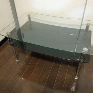 ガラステーブル 机 サイドテーブル 無料