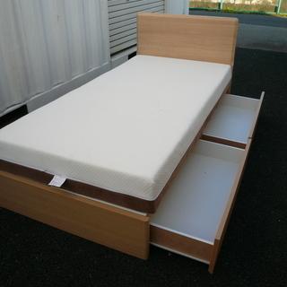 引出付きシングルベッド ニトリ  引取限定