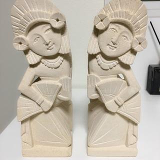 (アジアン/バリ)ペア石像