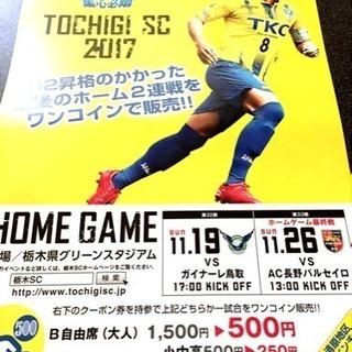 TOCHIGI SC◆栃木グリーンスタジアム【11/26】割引券/...