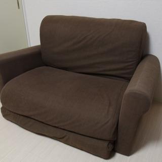ソファベッド シングルサイズ ブラウン