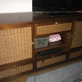 ラタンアジアン系テレビボード