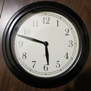 壁掛け時計/黒 ウォールロック