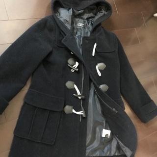 140男児 コムサのダッフルコート 濃紺+プーマの長袖上着