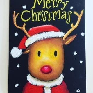 チョークアートで素敵なクリスマス