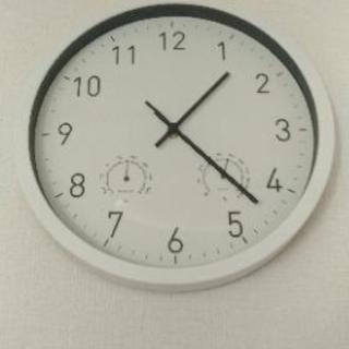 壁掛け時計(温湿度計つき)