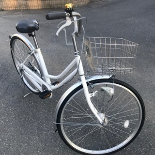 マルキンの純白のおしゃれ自転車〜新品パーツ交換済みです〜 ※プレゼ...