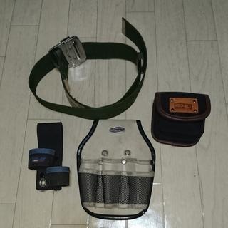 安全帯用の作業ベルトと工具さし。