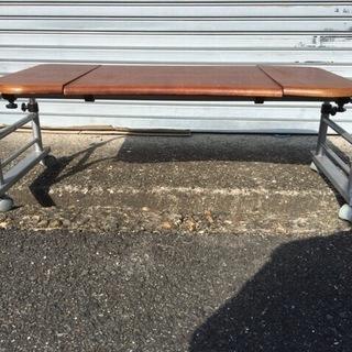 木製 ローテーブル 作業テーブル コマ付 幅115cm~145cm...