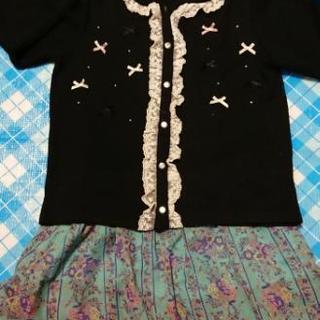 女の子 150 カーデ&キュロット 服
