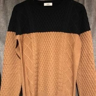【新品未使用】シップス カジュアル 紺 ブラウン セーター