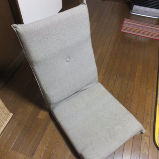 値下げ ニトリの座椅子 背もたれ部分が高く、背もたれが楽です。