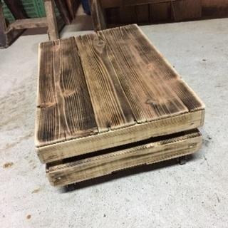 積み重ねられる【木箱】コマ・蓋 付き