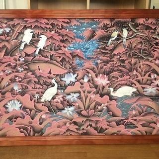 バリ島 手描きプンゴセカン・スタイル 絵画