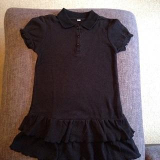 【お取引中】黒 ポロシャツワンピース115〜125㎝