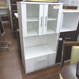 札幌 引き取りコンパクト キッチンボード 白 食器棚 キッチン収納